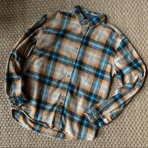Denim & Flower Button Down Plaid Flannel